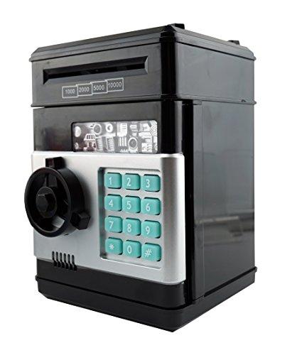 6goodeals Money Saving Piggy Bank Coin Storage for ATM Safety Box Bills Safe - USA SELLER! (Black) (Number Safe compare prices)