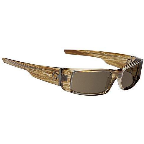 Spy Hielo Sunglasses - Spy Optic Steady Series Polarized Fashion Eyewear - Color: Brown Stripe Tortoise/Bronze, Size: One Size Fits All