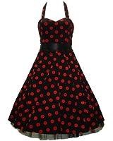 50's Big Polka Dot Dress Red