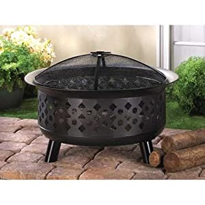 Iron Outdoor Fire Pit Fire Bowl ~ Pool Deck Patio ~ Camping ~ City Apartment from Hot Cargo