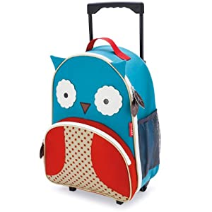 Skip Hop Zoo Little Kid Luggage, Owl