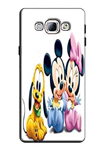 EU4IA Mickey And Friends Pattern MATTE FINISH 3D Back Cover Case For SAMSUNG GALAXY A8 - D040