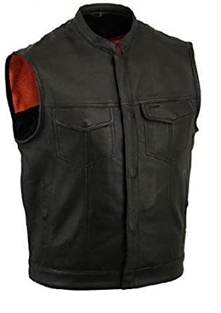GILET CUIR BIKER SONS OF ANARCHY TAILLE 3XL