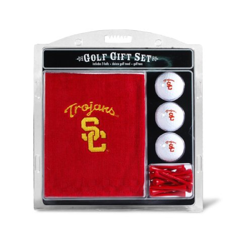 NCAA Southern California Embroidered Team Golf Towel Gift Set at Amazon.com
