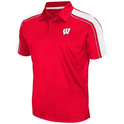Mens Ncaa Wisconsin Badgers Polo Shirt Team Color