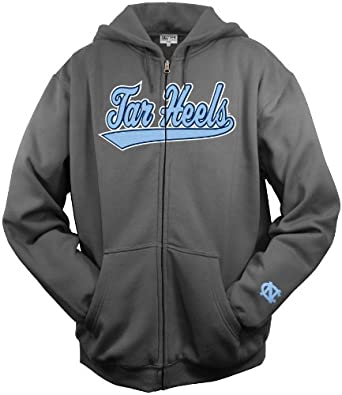 NCAA Mens North Carolina Tar Heels Tail Sweep Full Zip Hooded Fleece by SECTION 101 Majestic
