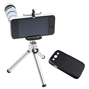 AGPtek® 8X Optical Zoom Telescope Lens (white) Kit for Apple iPhone 4 4G 4S 5 5G Samsung galaxy S III / S3 i9300
