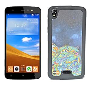 ECellStreet Silicon Soft Back Case Cover Back Cover For Gionee Pioneer P6 - Colourful Cat