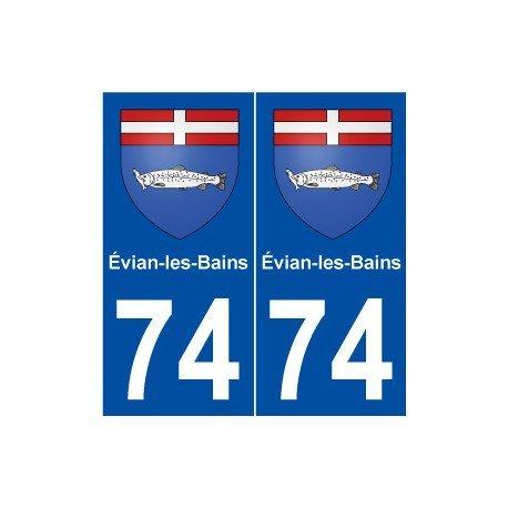 74-evian-les-bains-escudo-adhesivo-placa-stickers-ville-derechos