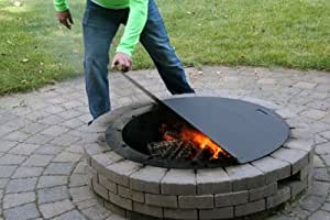 Firebuggz 40 round fire pit cover outdoor for Amazon prime fire pit