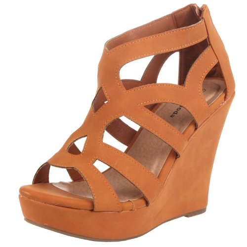 Top Moda Womens Ella-15 Fashion Wedge Sandals TAN 7