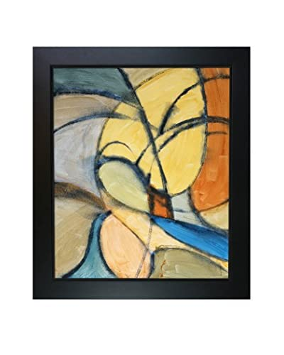 Clive Watts Curvey Abstraction Framed Print On Canvas, Multi, 28.75″ x 24.75″ x 2″