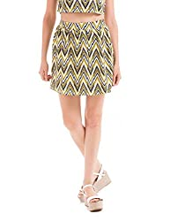 Prym Women's A-Line Skirt (1011617901_White Mix_Large)