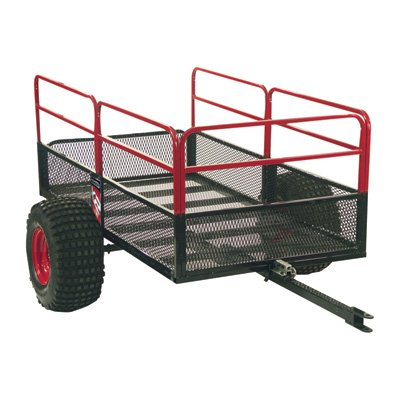 Yutrax TX158 Black/Red Trail Warrior X2 ATV Utility Trailer (Atv Hauling Trailers compare prices)
