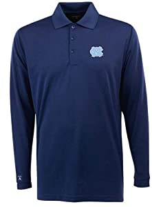 North Carolina Long Sleeve Polo Shirt (Team Color) by Antigua