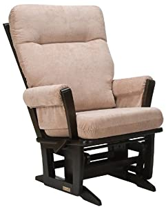 Dutailier Great Value Reclining Modern Multi-Glider - Espresso/Sand Pin-Corduroy
