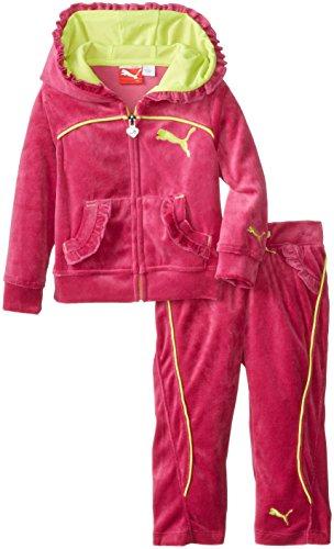PUMA Baby-Girls Infant Bold Piping Set, Festival Fuchsia, 24 Months