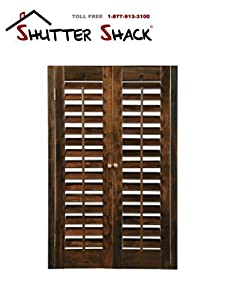Basswood diy plantation 2 1 4 interior shutter kits walnut 29 31 w x 36 h - Plantation shutters kits ...