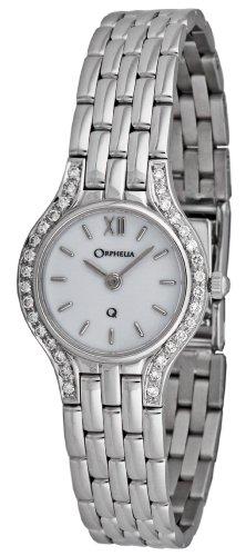 Orphelia - Mon-7026 - Montre Femme - Or 18 Carats - Diamants 0.32 Cts - Quartz Analogique - Cadran Blanc - Bracelet Or Jaune 18 Carats