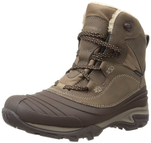 Merrell Snowbound Mid Wtpf, Stivaletti donna, Marrone (Braun (Dark Earth)), 41 EU