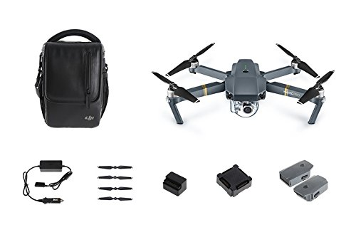 DJI Drone Mavic Pro Fly More Combo con Videocamera 4K/30 fps, 12MP, Grigio