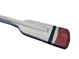 Handcrafted Nautical Decor Wooden Bristol Squared Rowing Oar with Hooks, 36