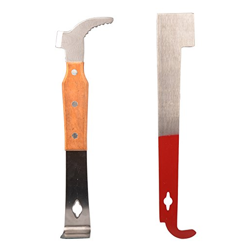 StarSide 2 Pcs Bee Hive Scraper Tool Bee Hive Frame Lifter and Scraper for Beekeepers (Hive Frame Lifter compare prices)