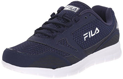 Fila Men's Direction-M Running Shoe, Fila Navy/Fila Navy/Metallic Silver, 9 M US