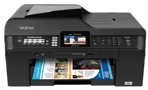 Brother MFCJ6510DW Business Inkjet All-in-One Printer with 11-Inch x 17-Inch Duplex Printing and 11-Inch x 17-Inch Scan Glass