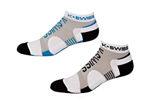 K-Swiss 1.0 iMPACT Blade Kwicky Socks (2-Pack) - brilliant blue/light grey, large