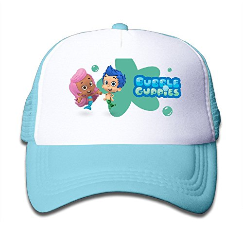 children-bubble-guppies-adjustable-snapback-mesh-hat-skyblue-one-size