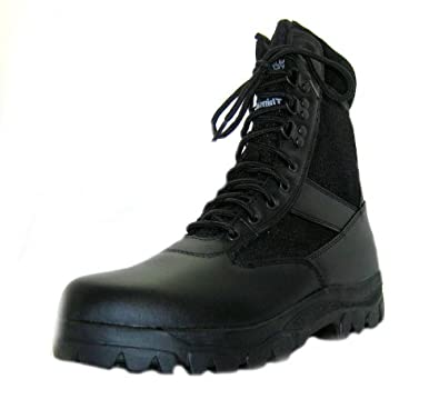Size 7 Northwest Territory Men's Commando Black Lace Up Leather Military Boots