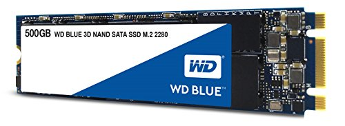 WD 블루 3D NAND M.2 2280 250GB/500GB/1TB/2TB SSD - Western Digital Blue 3D NAND 500GB PC SSD - SATA III 6 Gb/s M.2 2280 Solid State Drive