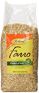 Roland Pearled Farro, 3 Pounds Bag (Pack of 4)