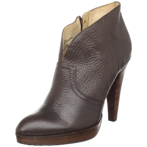 Frye Women's Harlow Campus B Dark Brown Booties Heels 73825 8 UK