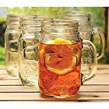 Mason Jar Glass -Set Of 4