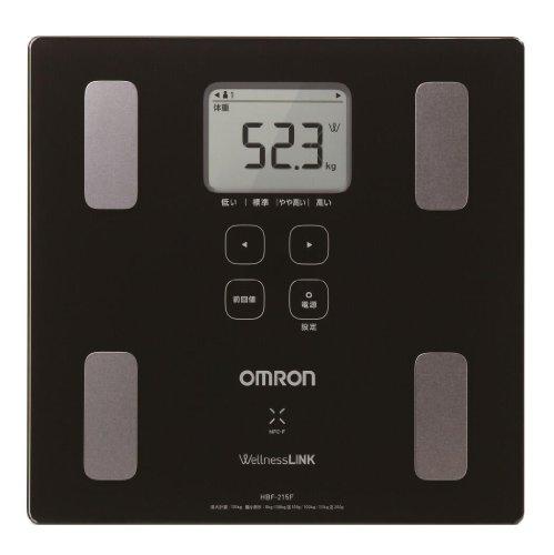 オムロン 体重体組成計 カラダスキャン HBF-215F-BK ブラック【ウェルネスリンク対応】