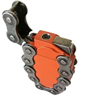 Hip Orange Chain Link Refillable Butane Lighter