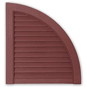 Mastic Arch15lv 38 2 Pack Red 15 Open Louvered Arch Top For Vinyl Shutters