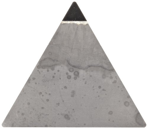 American Carbide Tool Polycrystalline Diamond Tipped Insert, Pcd15 Grade, Tpg-221 Style, 1/4-Inch Ic Size