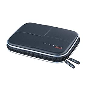 BUFFALO HDDケース 低反発+EVAセミハード ブラック BBGHH01BKA