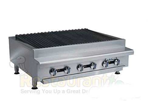 "Imperial Commercial Radiant Char-Broiler 36"" Wide 6 Stainless Steel Burners Nat Gas Model Irb-36 front-625964"