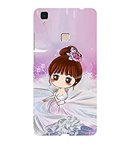 ifasho Princess Girl Back Case Cover for Vivo V3