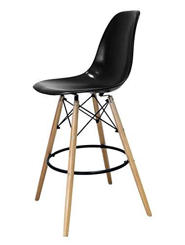 Designer Barhocker, Esszimmerstuhl, Küchenstuhl, Wohnzimmerstuhl, schwarz