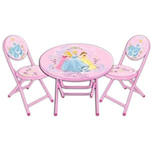 Disney Princess Folding Table and Chairs Set - best buy for baby sweety