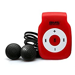 BMS Smart MP3 Music Player With 4GB Micro SD Card (Red)