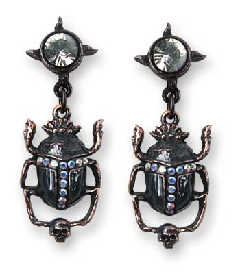 Black Sun Khepri Earring by Alchemy Gothic, England