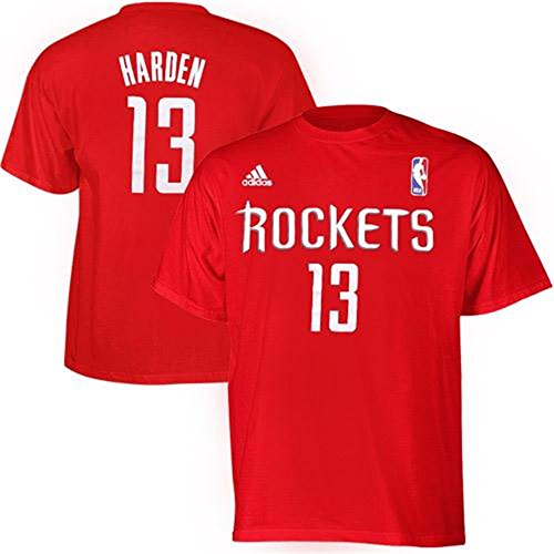 Houston Rockets James Harden Red Name and Number T-Shirt