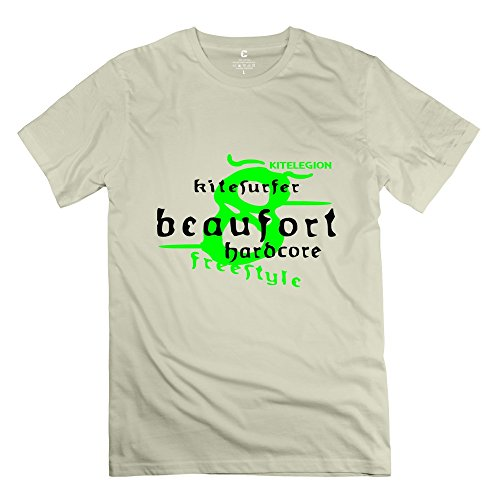 Yongth Men'S 8 Beaufort Kite 100% Cotton T-Shirt - Classic Tshirts Natural Us Size S