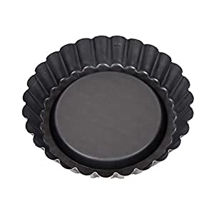 Patisse Nonstick Flan Tin Pan, 3 7/8-Inch, Black